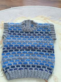 Knitted baby sweater, vest patterns (7)