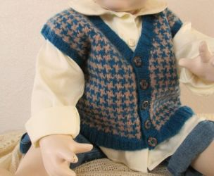 Knitted baby sweater, vest patterns (9)