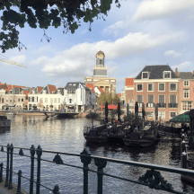 Knitting History Forum TRC Leiden Conference 2019 – View of Leiden at lunchtime, with the food market behind us, 02.11.19 – image 2019 by Christine Carnie