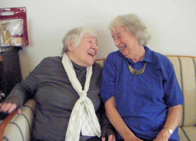 Karen Finch and Kirstie Buckland in 2008. Photo courtesy of Kirstie Buckland.