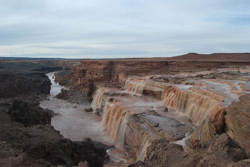 Chocolate Falls - Grand Falls of the Little Colorado River, Arizona