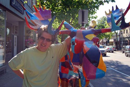 Mooses all over Bennington, Vermont