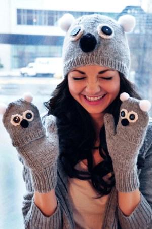 care to cuddle koala bear hat and mittens knitting pattern 4