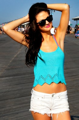 sunshine and lollipops braided strappy back knitted tank top with lace edge knitting pattern 1
