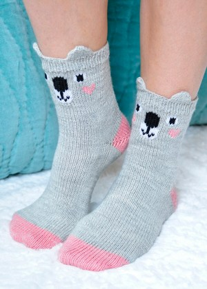 43006fb263396 pawsome pals knitted koala socks with ears knitting pattern 2 cropped again  ...