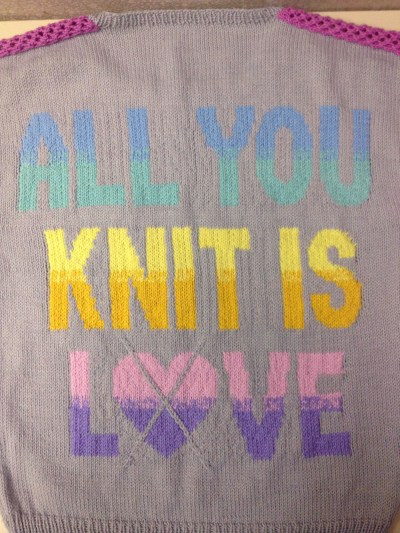 all you knit is love back word detail