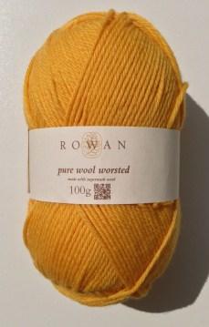 Rowan Pure Wool Worsted - Buttercup 132