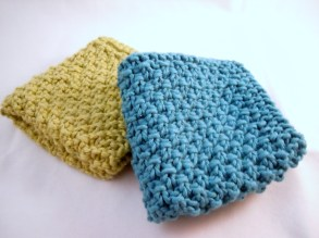 Double Seed Stitch Wash Cloths