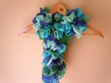 Ocean Blue Knit Ruffle Scarf