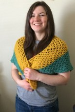 Finished Crochet Summer Shawl