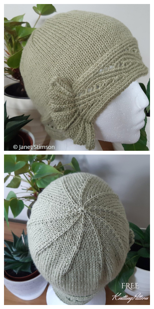 Free Cloche Hat Pattern : cloche, pattern, Green, Cloche, Knitting, Pattern