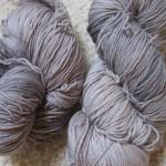 Silver-gray sock yarn