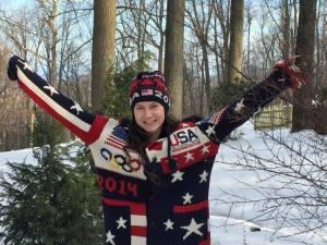 Olympic sweater model