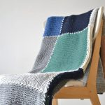 Block Blanket Knitting Pattern Your First Knit Afghan Knitting With Chopsticks
