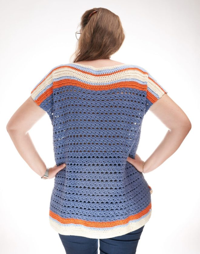 Sunburst pattern for crochet top