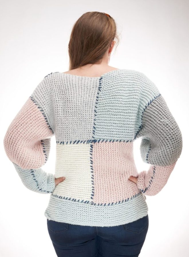 Block sweater free knitting pattern