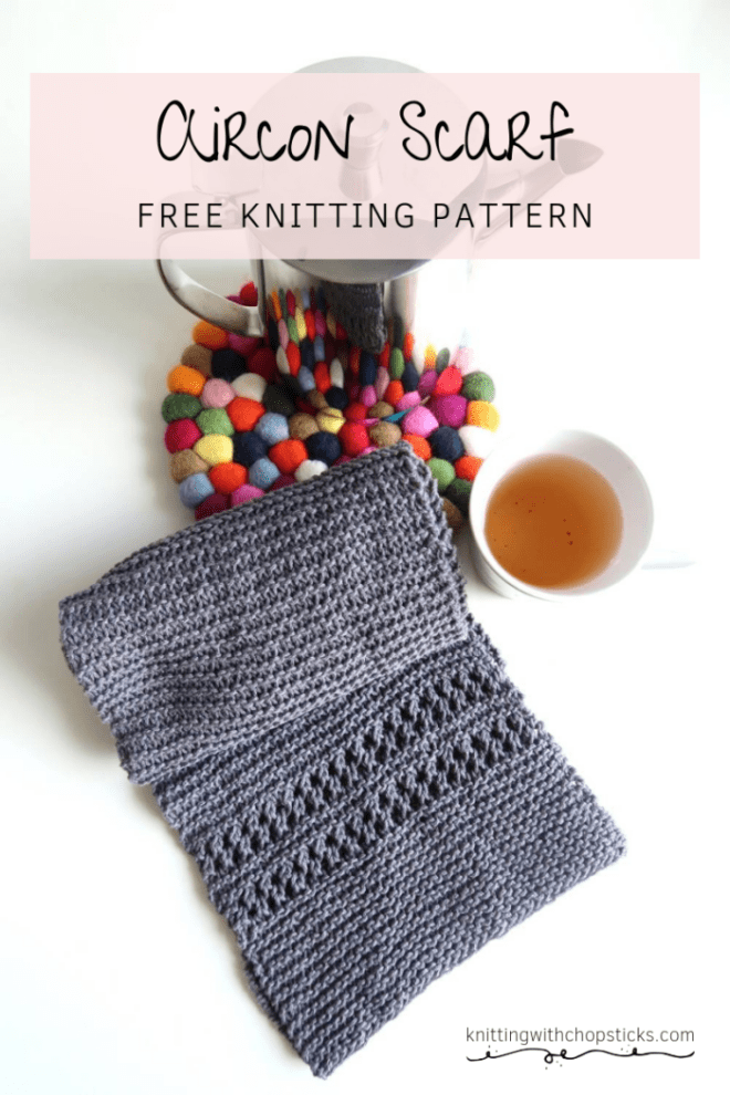 Aircon Scarf: an easy knitted scarf pattern