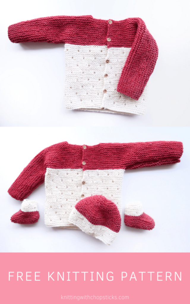 Strawberry Seed Knit Baby Sweater Pattern FREE