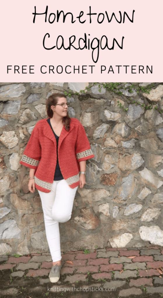Chunky Oversized Crochet Cardigan Pattern FREE