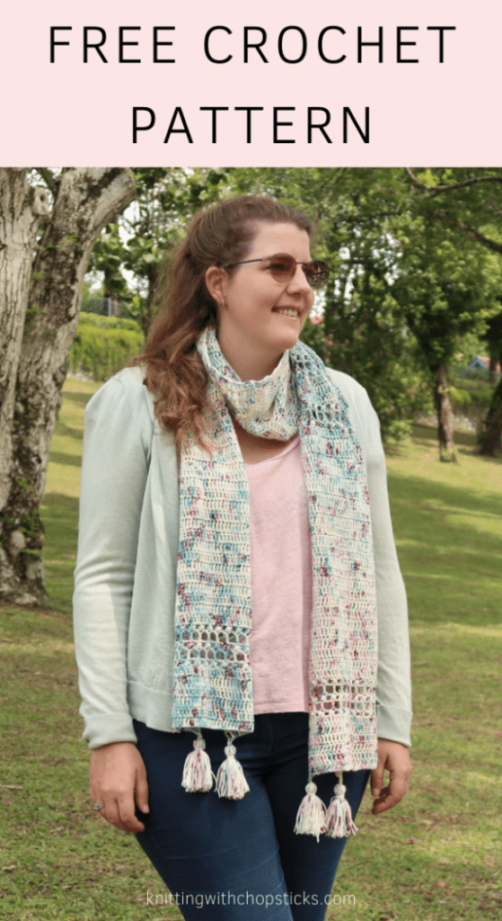 Cherry Blossom Scarf Crochet Pattern Easy