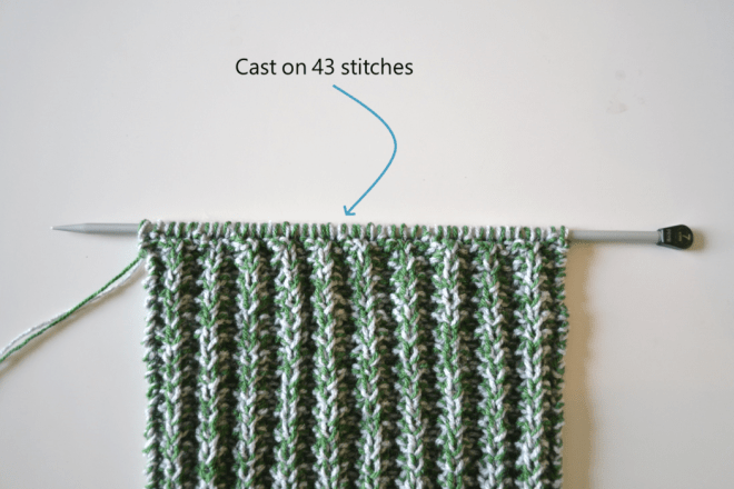 ribbed scarf knitting pattern step 1