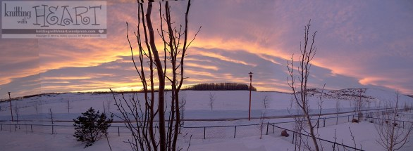 panoramic January sunset photo