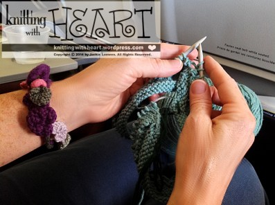 knitting on the airplane
