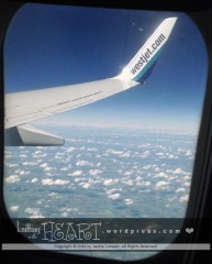 WestJet above the clouds