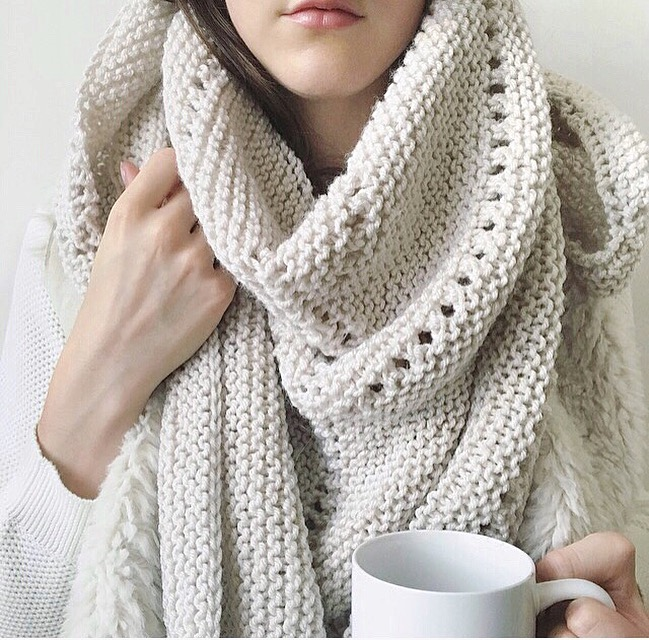 Knitting Pattern Shawl Scarf Triangle Knitting Wonders Fall