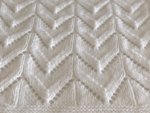 Arches baby blanket closeup