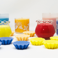 Spring candles with melts
