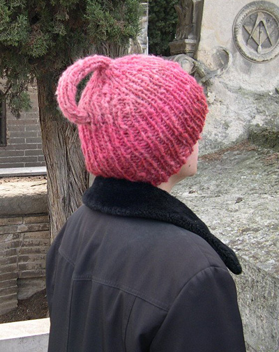 Klein Bottle Hat, from Knitty