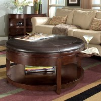 12 Round Tufted Leather Ottoman Coffee Table Inspiration ...