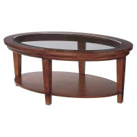 Modern Round Glass Top Coffee Table