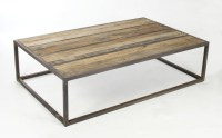 Rustic Wood And Iron Coffee Table - Frasesdeconquista.com