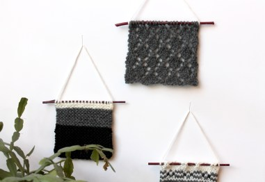 knitted wall decor