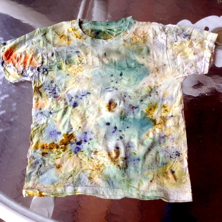 July eco print shirt front