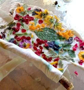 July eco print shirt wrapping