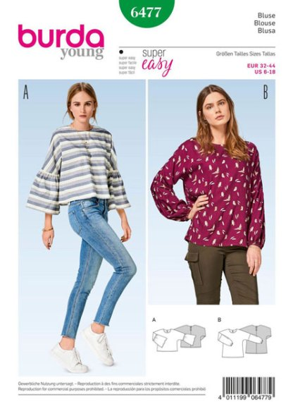 Burda-young-top-pattern-B6477