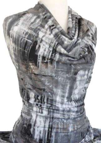 Knitwit Printed Jersey Knit Capricorn Grey Foil