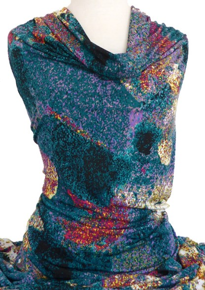 Knitwit Printed Jersey Knit Carnival Multicolour