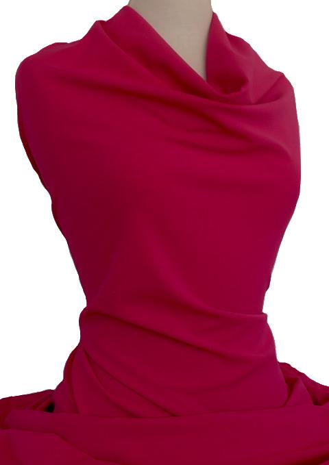 Knitwit Scuba Crepe Knit Geranium Pink