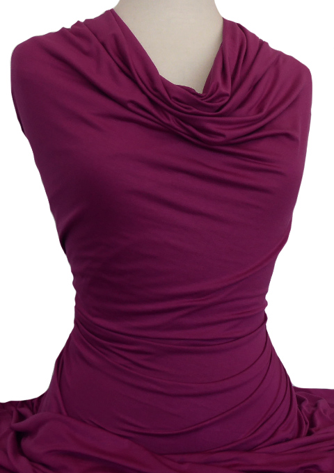 Knitwit Bamboo Jersey Knit Fabric Boysenberry