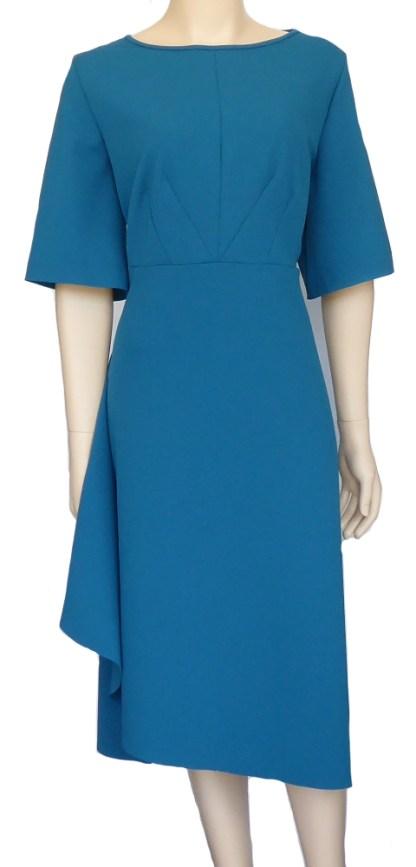 New Look Pattern 6655 - Knitwit Scuba Crepe Knit Fabric Blue Jewel