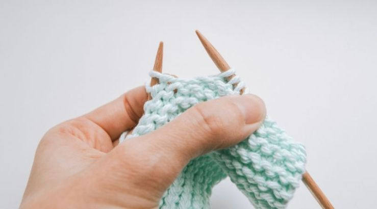 garter stitch on the needles with the needles held too far apart