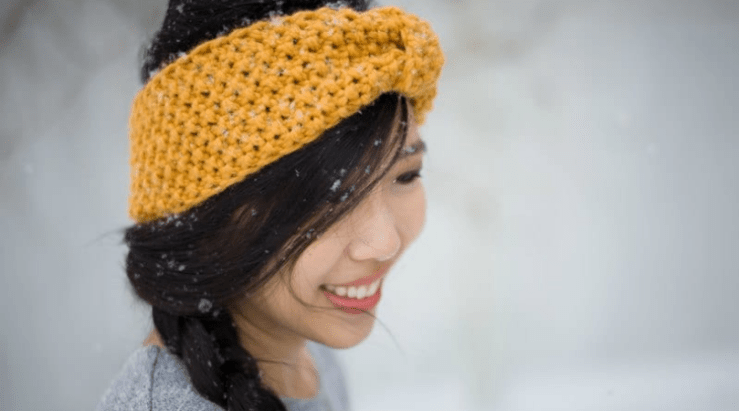 Seed stitch headband from allaboutami