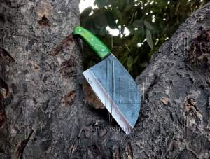 High carbon steel chef cleaver