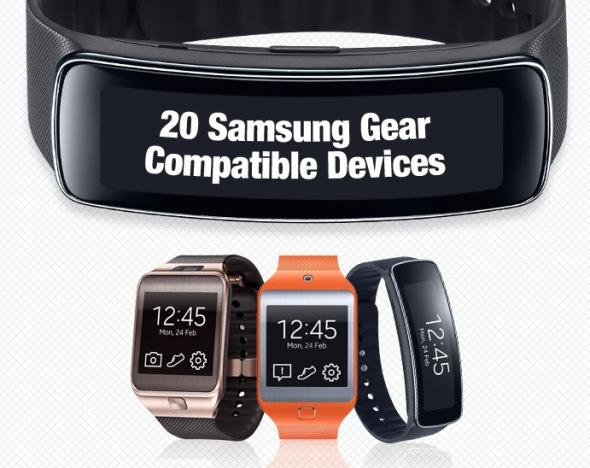 Samsung Diese Geräte sind mit der Gear 2  Fit kompatibel