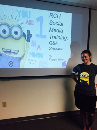 Social Media Training: You're One In A Minion By Kristen Miller