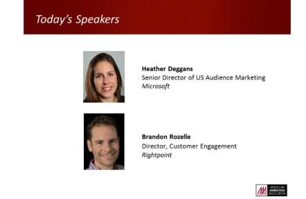 Today's Speakers: Heather Deggans and Brandon Rozelle